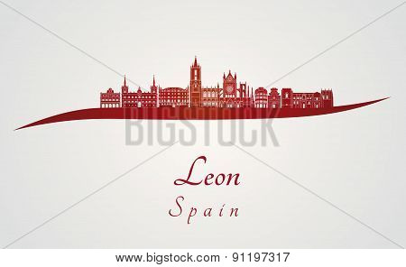 Leon Skyline In Red