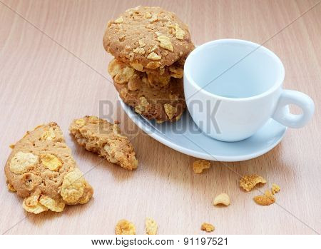 Cornflakes Cookies with Cup