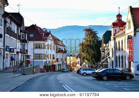 Mountain town.