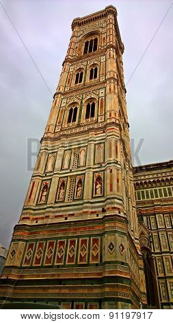 Florence.The tower of the Cathedral of Santa Maria del Fiore