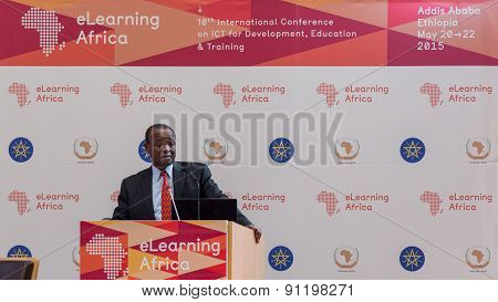 Deputy Chairperson Of The African Union, Delivers A Keynote Speech