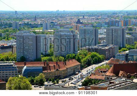 Aerial view of Berlin, Germany.