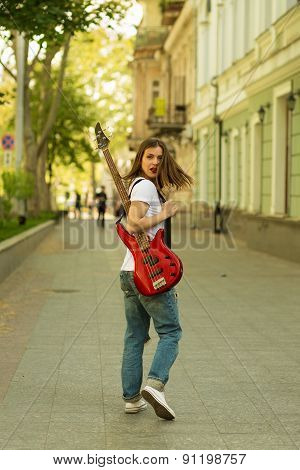 Beautiful Girl With Guitar