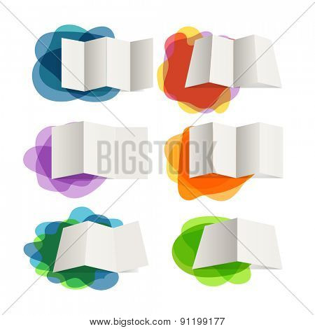 Different paper maps on blots collection. Design elements