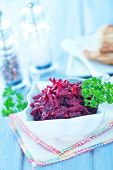 picture of beet  - beet salad in bowl and on a table - JPG