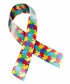 image of autism  - Puzzle ribbon - JPG