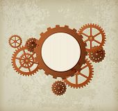 stock photo of steampunk  - Vector industrial background in the style of steampunk - JPG