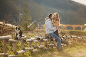 picture of straight jacket  - Beautiful young couple - JPG