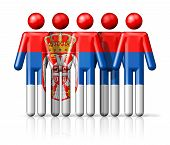 picture of serbia  - Flag of Serbia on stick figure  - JPG