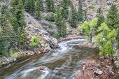 picture of collins  - Cache la Poudre River at Big Narrows west of  Fort Collins in northern Colorado  - JPG