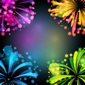 picture of salute  - Background with bright colorful fireworks and salute - JPG