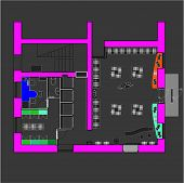 picture of straddling  - Plan a small shop with straddling furniture - JPG