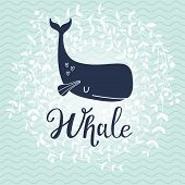 foto of whale-tail  - Stunning whale card - JPG