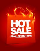 image of fiery  - Fiery hot sale design with shopping bag - JPG