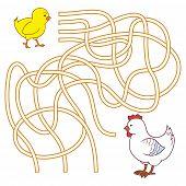 foto of maze  - Maze game for children  - JPG