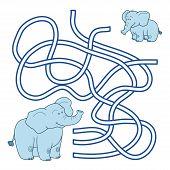 picture of maze  - Maze game for children  - JPG