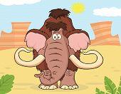 stock photo of mammoth  - Woolly Mammoth Cartoon Character - JPG