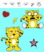 pic of cute tiger  - cute tiger funny expressions cartoon set in vector format very easy to edit - JPG