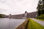 image of dam  - Mohnesee Westfalia Delecke European German Water Dam - JPG