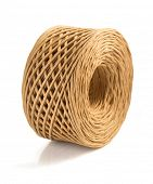 image of cord  - roll of twine cord isolated on white background - JPG