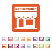 stock photo of barbershop  - The barbershop building icon - JPG