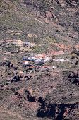 stock photo of canary  - Mountain Village at the Spanish Canary Islands - JPG