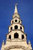 stock photo of church-of-england  - The spire of St Bride - JPG