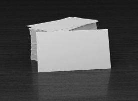 pic of passport template  - 3d render blank card isolated on wood background . Business - JPG
