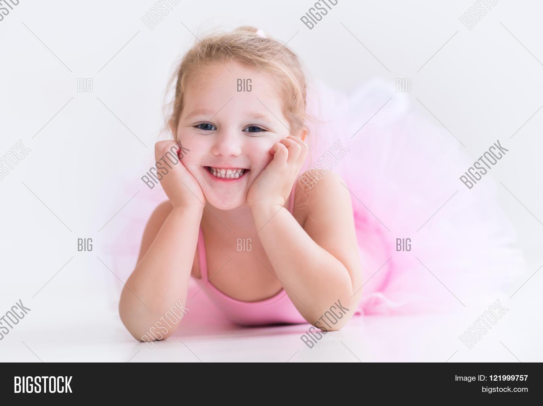 little ballerina pink tutu image u0026 photo bigstock