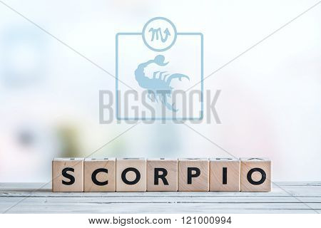 Scorpio Star Sign On A Table