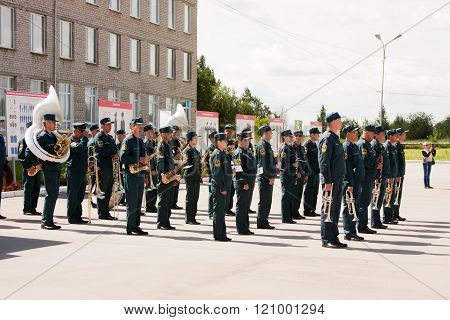 Perm, Russia, July 04.2015:military Orchestra At A Meeting Of Veterans
