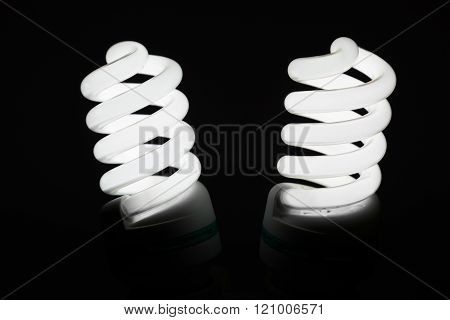 Two Glowing Fluorescent Lamp