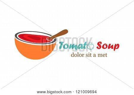 Template logo for tomato soup
