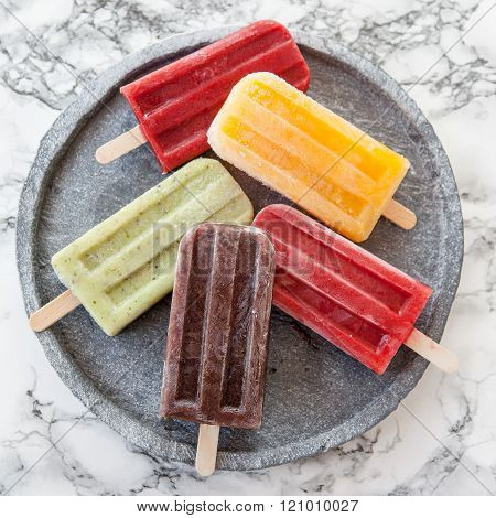 Homemade Ice Cream Popsicles