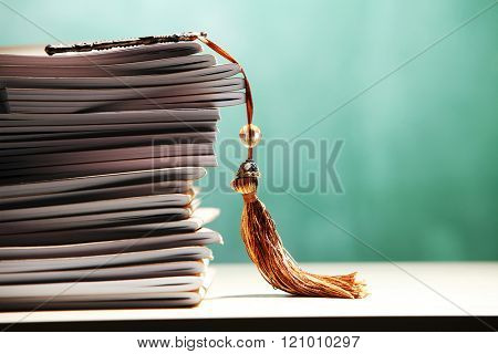 stack of book with luxury key with tassel