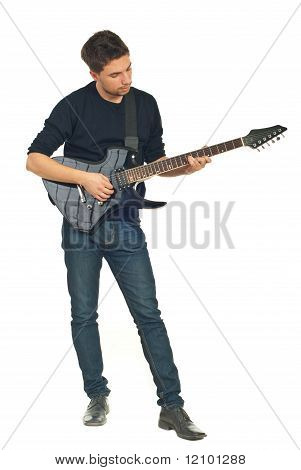 Full Length Of Young Man With Guitar