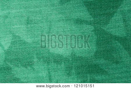 Green Denim Blue Cloth Texture.