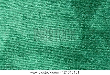 Green Denim Blue Cloth Texture.
