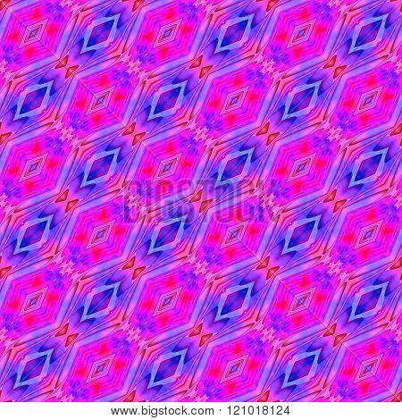 Stylized blue pink purple seamless pattern