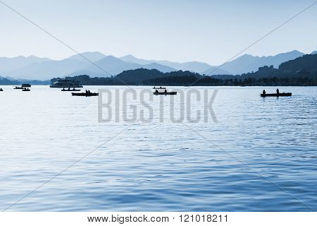 West Lake, Floating Boats, Hangzhou, China
