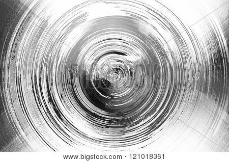 Circle Mercury Chrome Texture Background,sic-fi Style