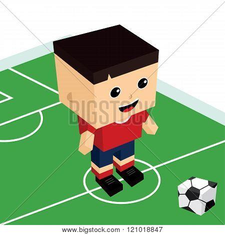 Male Cartoon Soccer Player