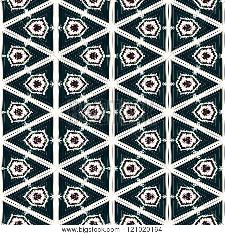 Abstract kaleidoscope symmetrical regular mirroring colorful pattern - digitally rendered graphic