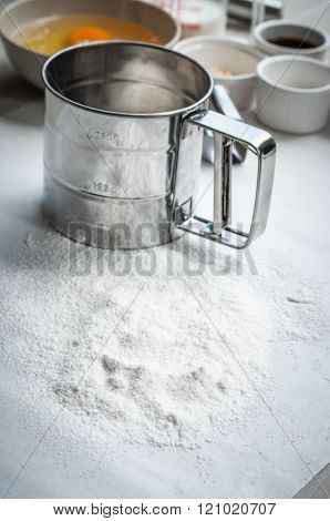 Ingredients for baking cake, use for cooking background