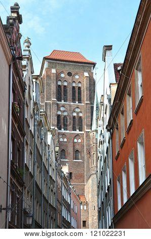 Old street of Gdansk