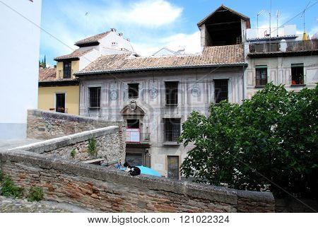 Buildings in the Albaicin, Granada.
