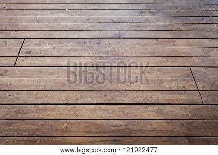 Close-up Image Of Aged Wooden Floor In Building