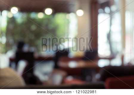 Blurred Background, Cafe Coffee Shop With People De-focused