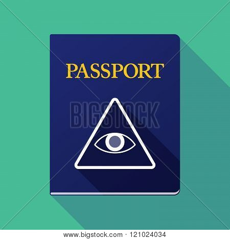 Long Shadow Passport With An All Seeing Eye