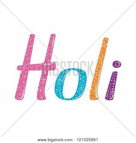 Holi vector lettering